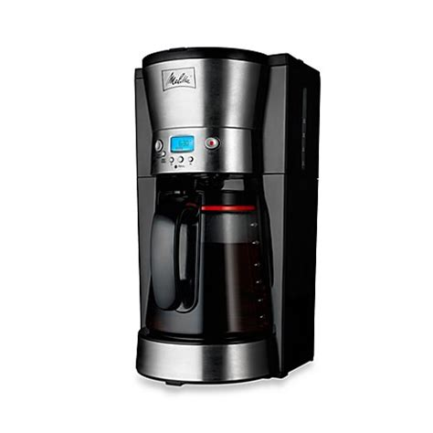 bed bath coffee maker melitta 174 12 cup programmable coffee maker bed bath beyond