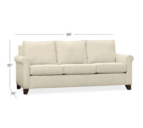 arm couch cameron roll arm upholstered sleeper sofa pottery barn