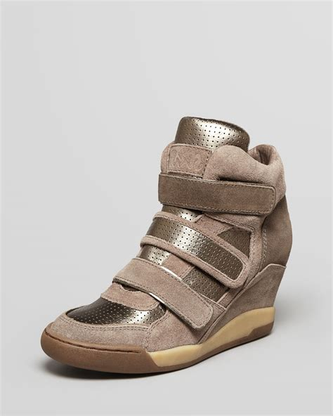 high top wedge sneakers ash high top wedge sneakers alex in brown piombo