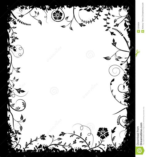 grunge design elements vector grunge frame flower elements for design vector stock
