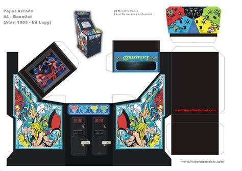 Papercraft Arcade - gauntlet arcade machine papercraft culture