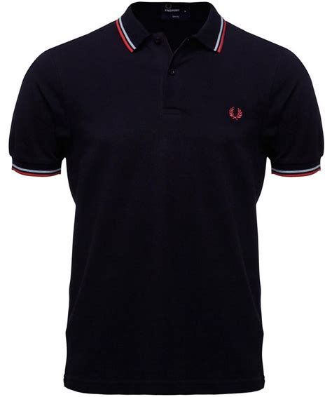 Fred Perry Slim Low fred perry navy slim fit tipped polo shirt available