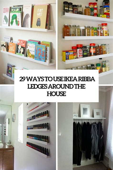 Kitchen Furniture Ikea 29 Ideas To Use Ikea Ribba Ledges Around The House Digsdigs