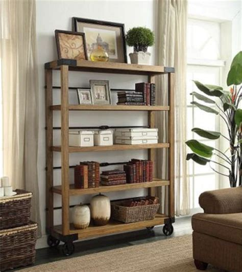 vintage industrial 5 tier portable bookshelf display