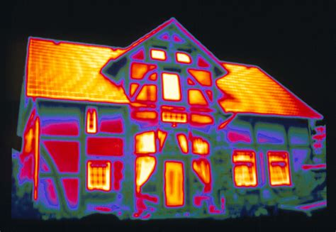 Heat L House Thermogram Showing Heat Loss From A House Photograph By