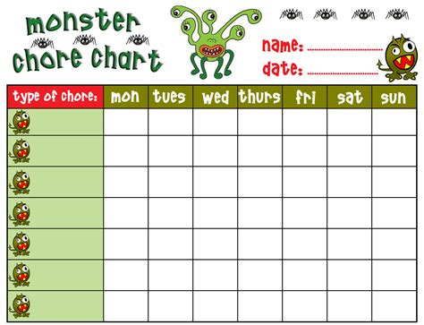 printable toddler chore chart 8 best images of free printable chore charts for boys