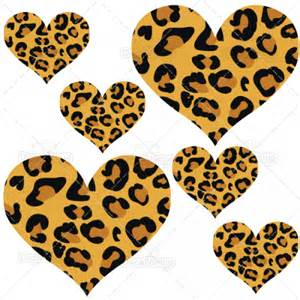 leopard cheetah print hearts wall stickers decals car pictures animal spots set fairydustdecals