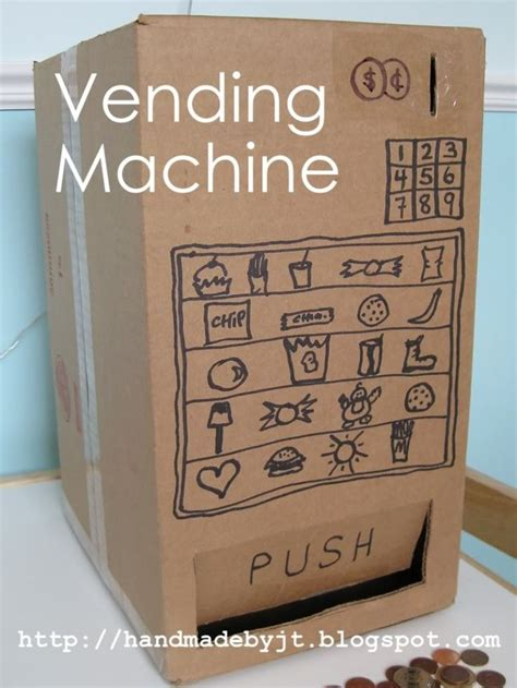 How To Make A Paper Gumball Machine - my handmade home day 3 of cardboard vending machine