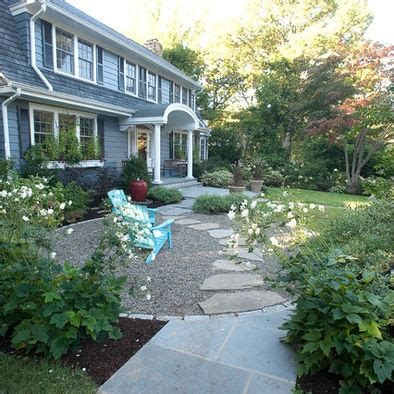 Pea Gravel Front Yard flagstone walkway through pea gravel home sweet home