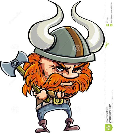 cute cartoon viking  helmet stock  image
