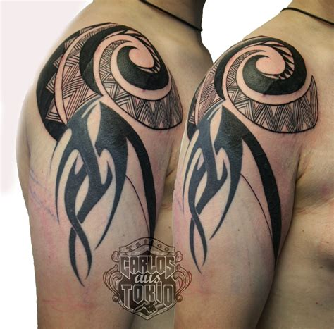 adding to a tribal tattoo adding new tribal to hybrid tattoos done with attitude