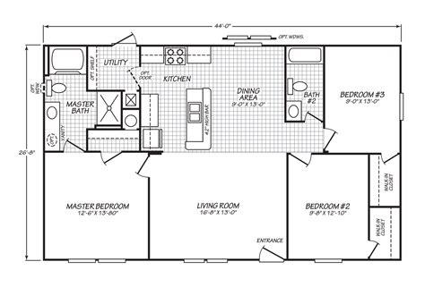 floorplan or floor plan velocity model 28443v manufactured home floor plan or