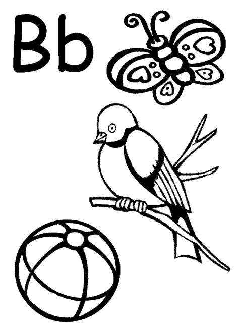 coloring page for letter b letter b coloring pages az coloring pages