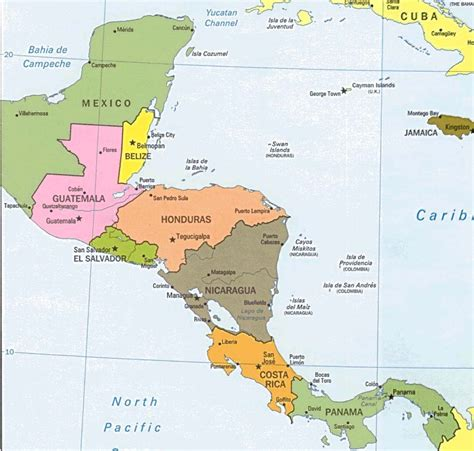 central america the caribbean map physical map of central america and caribbean