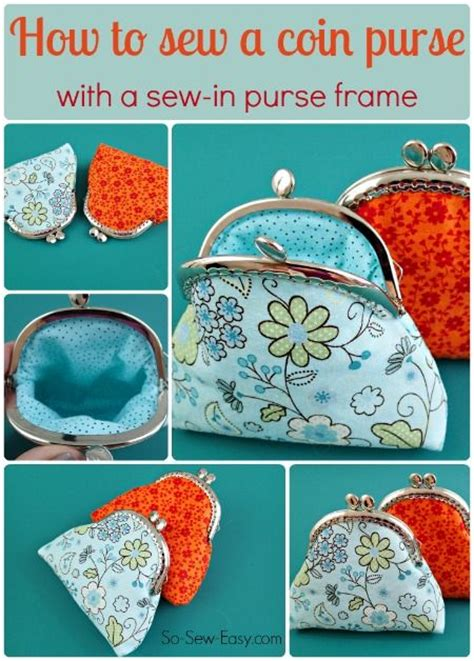sewing pattern purse frame how to sew a coin purse with a sew in purse frame coins