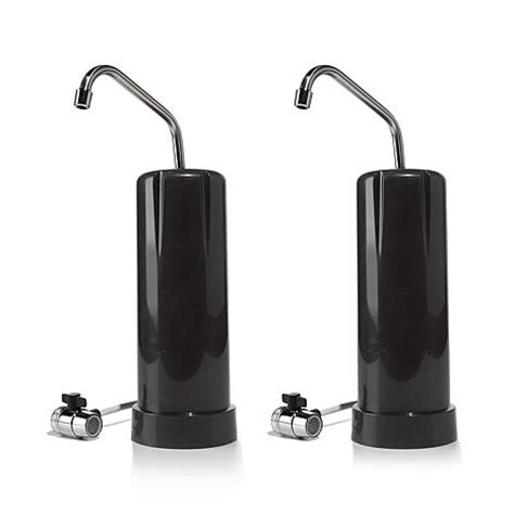 Clean And Countertop Water Filter Review by Clean And 25 000 Gallon Countertop Water Filter 2 Pack 7398436 Hsn