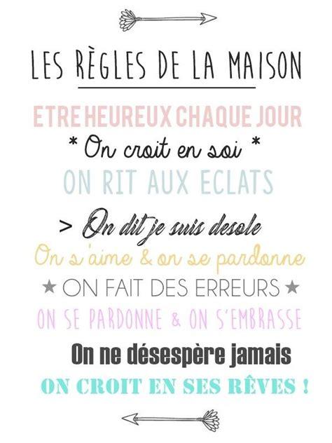 Regle De La Maison A Imprimer by 25 Best Ideas About R 232 Gles De La Maison On
