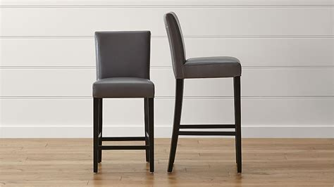 Crate And Barrel Leather Bar Stools by Lowe Smoke Leather Bar Stools Crate And Barrel