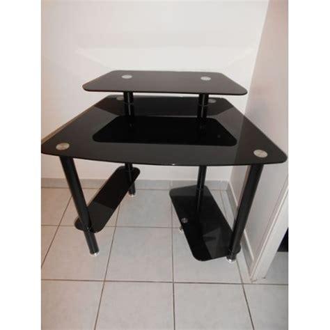 bureau en verre noir bureau turbo en verre trempe noir achat et vente