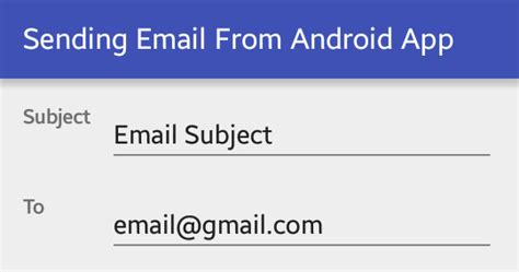 send from android sending email from android application viral android tutorials exles ux ui design