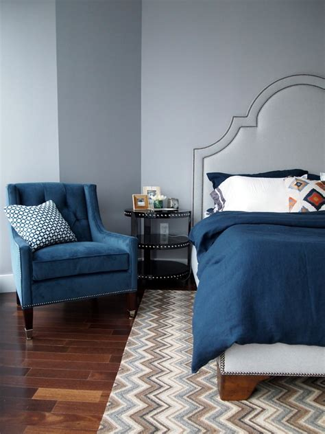 blue bedroom chair blue ikat chair bedroom transitional with nailhead trim