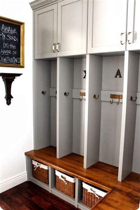 mudroom lockers with bench built ins gray mudroom built ins laundry and mud rooms pinterest