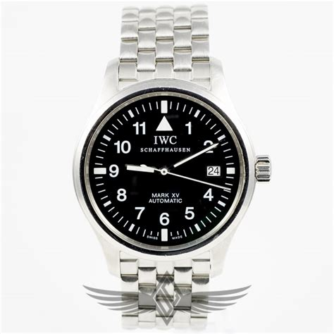 IWC Mark XV Pilot 39mm Stainless Steel Case Black Dial Automatic Watch IW3253   OC Watch Company