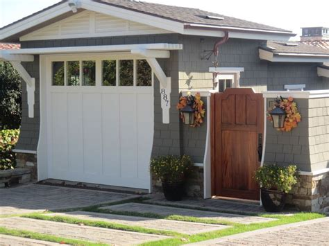 craftsman style garage gate shut the front door and