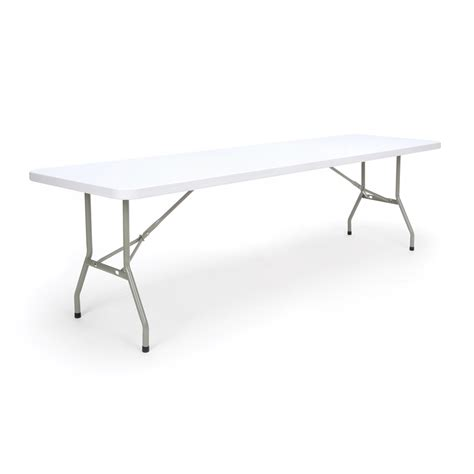 8 Ft Plastic Table by 8 Ft Folding Table White Molded Plastic Top