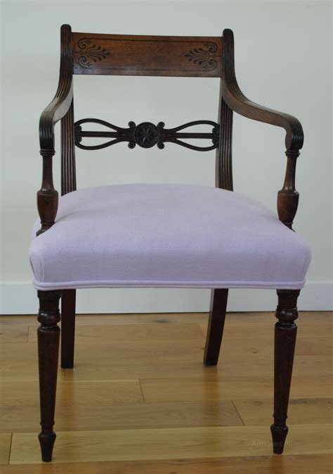 regency armchair regency armchair re upholstered in linen antiques atlas