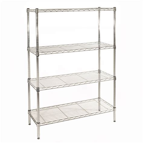Wire Rack Walmart by Seville Classics 4 Shelf Steel Wire Shelving System
