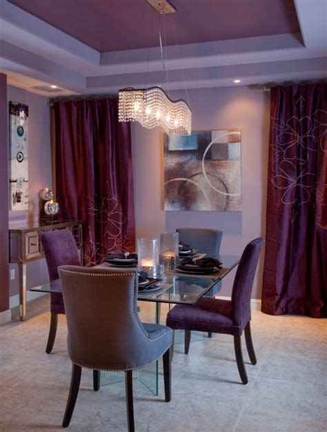 Houzz Purple Dining Room Purple Contemporary Dining Room San Diego