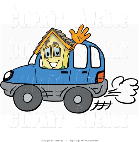 driving home clipart