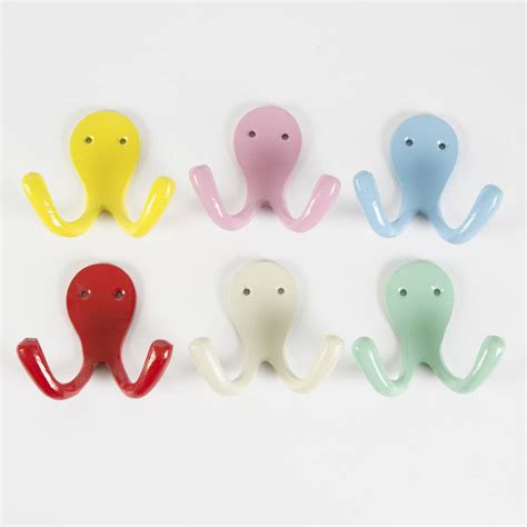 colorful wall hooks colourful metal wall hook medium by baby