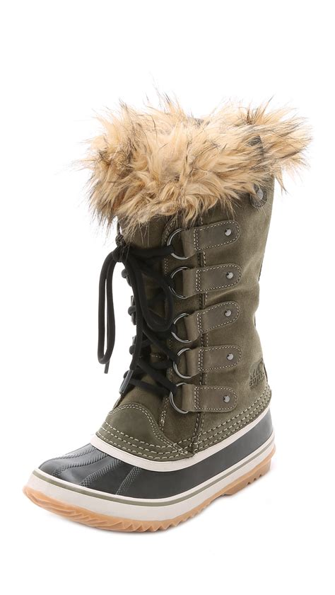 joan of arctic sorel boots sorel joan of arctic boots in brown lyst