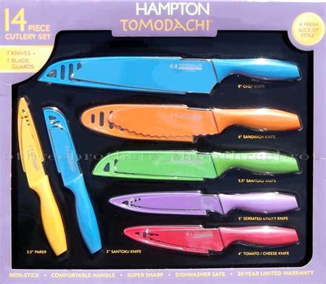 colorful kitchen knife set ebay new hton tomodachi 14 piece non stick cutlery kitchen