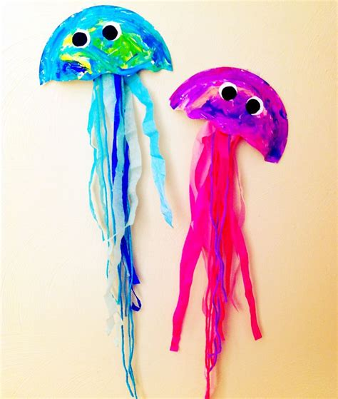 jellyfish craft made from paper bowls paper glue