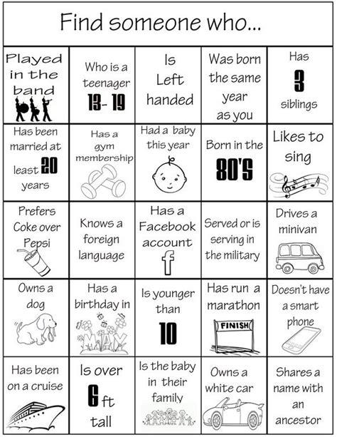 family reunion bingo card template frh reunion bingo copy 2 family 교수법 게임 및 육아