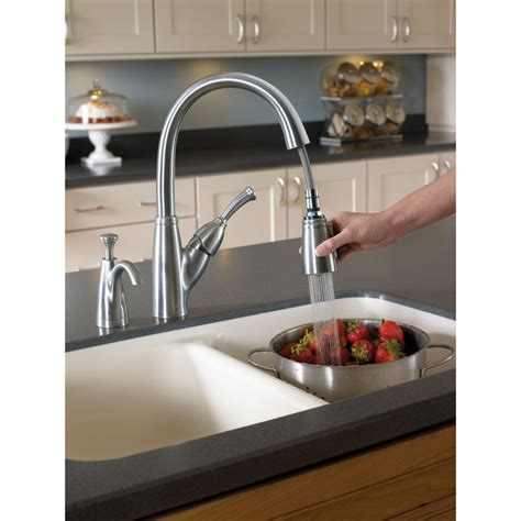 delta 989 dst allora polished chrome pullout spray kitchen