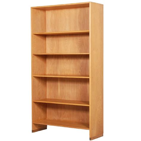hans j wegner oak bookcase for ry mobler 1957 for sale
