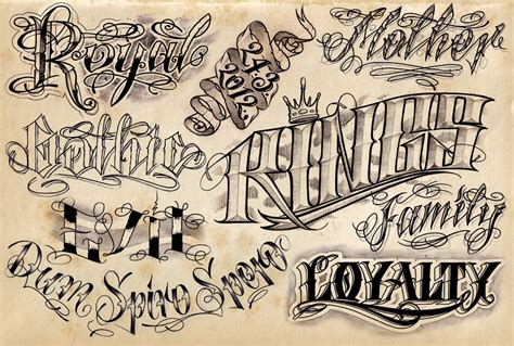 popular tattoo fonts 12 cool lettering designs project 4 gallery