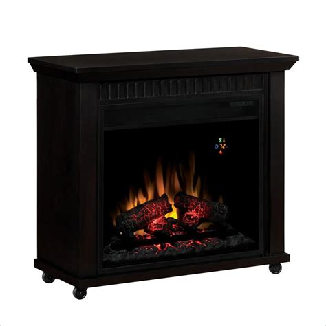 Rolling Fireplace classic chimney free rolling electric fireplace ebay