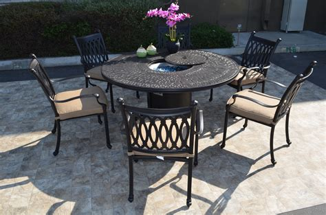 pit table and chairs grand tuscany dining set chairs propane