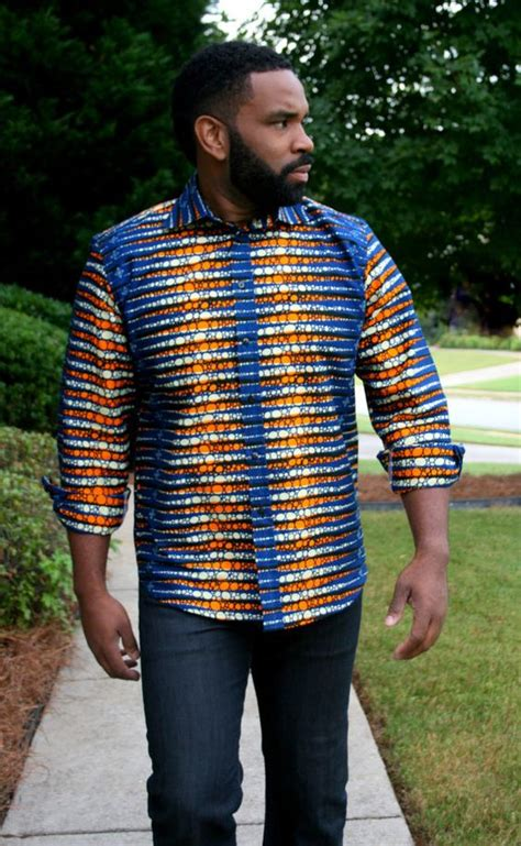 african kitenge shirts melange mode men tribal shirt by melangemode on etsy