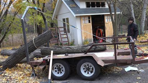 Skidder Minnie trying the log lifting arch