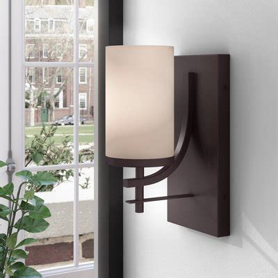 andover mills agnes 1 light wall sconce sconces you ll wayfair