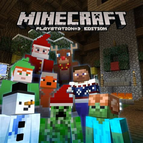 themes ps3 minecraft minecraft playstation 4 edition minecraft festive skin
