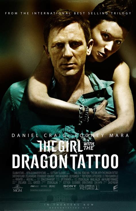 dragon tattoo us movie the girl with the dragon tattoo theatrical poster by