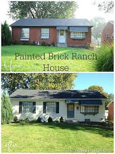 Paint Color Match painted brick ranch house cleverly inspired