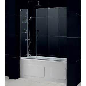 home depot tub shower doors dreamline mirage 60 in x 58 in frameless sliding tub